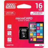 Cumpara ieftin Card MicroSD 16GB (Clasa 10) GoodRam