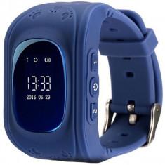 Ceas Smartwatch copii GPS Tracker iUni Q50, Telefon incorporat, Apel SOS, Bleumarin