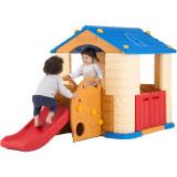 Casuta copii 2 in 1 deluxe cu tobogan Edu Play