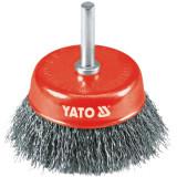 Yato - YT-4751 - Perie oala, 75x- mm, fir ondulat, tija cilindrica 6 mm