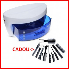 Sterilizator UV Profesional Ustensile Salon Coafor Frizerie Tatuaj +10 Piepteni
