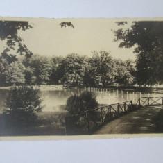 Carte postala foto E.Fischer 1938 Sibiu-Lacul Dumbravii,circulata 1939
