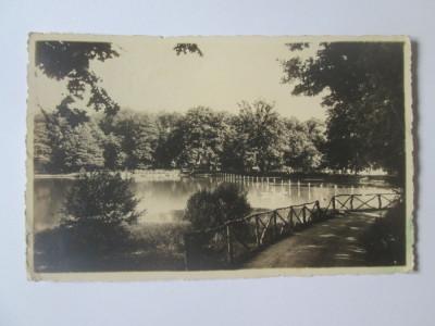 Carte postala foto E.Fischer 1938 Sibiu-Lacul Dumbravii,circulata 1939 foto
