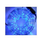 Instalatie Rola LED 10 m furtun luminos albastru + alimentator inclus / instalatie de craciun