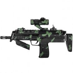 Arma de jucarie pentru copii, model mitraliera cu telescop, 38 cm