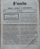 Ziarul Foaia pentru minte , inima si literatura , nr. 27 , Brasov , 1863