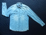Camasa blugi Jack&Jones Jeans Intelligence Durability&Strenght '75; marime XL, Maneca lunga, Din imagine