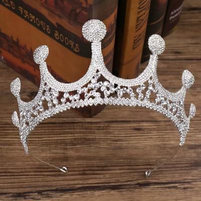 Diadema/tiara/coronita argintie inalta foto