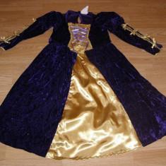 costum carnaval serbare rochie medievala contesa pentru copii de 7-8 ani