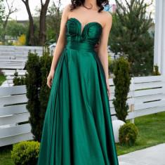 Rochie LaDonna verde lunga de seara, S