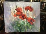 106 Tablou cu flori de maci infloriti, tablou cu flori de camp