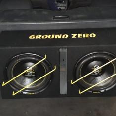 Subwoofer 2000W + condensator + statie Groundzero