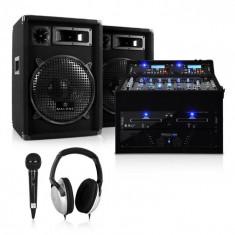 Electronic-Star Rack Star Sol Lightning, DJ PA Set, 1200 W