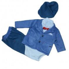 Costum de botez pentru baieti Colibra 7693062-AL1, Albastru