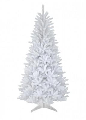 Brad de Craciun artificial Alb, calitate Premium, 180 cm, suport cadou foto