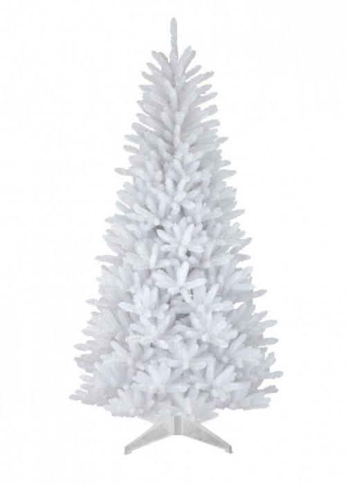 Brad de Craciun artificial Alb, calitate Premium, 180 cm, suport cadou
