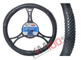 Husa volan Black Tir material cauciucat diametru 49-51 cm - BA-6469