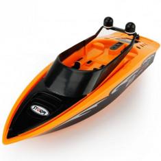 Barca cu telecomanda iUni RC Racing Boat Waterproof, Frecventa 2.4G, Portocaliu