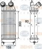 Radiator intercooler PEUGEOT EXPERT platou / sasiu (2007 - 2016) HELLA 8ML 376 746-211
