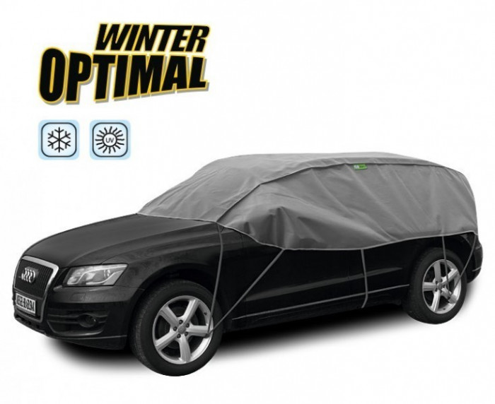 Semi Prelata auto, husa exterioara Dacia Duster, pentru protectie impotriva inghetului si soarelui, marime SUV, lungime 300-330cm, model Winter Op...