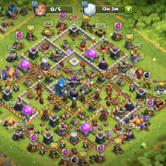 Cont Clash of Clans TH12, 95% maxat, Builder base maxim, Level 199