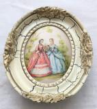 Tablou matase - decorativ / de colectie - rama de lemn - Fragonard