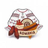Magnet de frigider, elemente traditionale romanesti, MB131