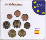 Spania Set 8A - 1, 2, 5, 10, 20, 50 euro cent, 1, 2 euro 2001 - UNC !!!