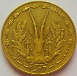 Moneda exotica 10 FRANCI - AFRICA de VEST, anul 1977 *cod 2094 = excelenta