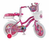 "Bicicleta Copii Umit Princess , Culoare Roz , Roata 16"" , OtelPB Cod:1608000000"