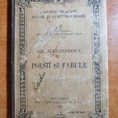 poezii si fabule de grigore alexandrescu din anul 1895