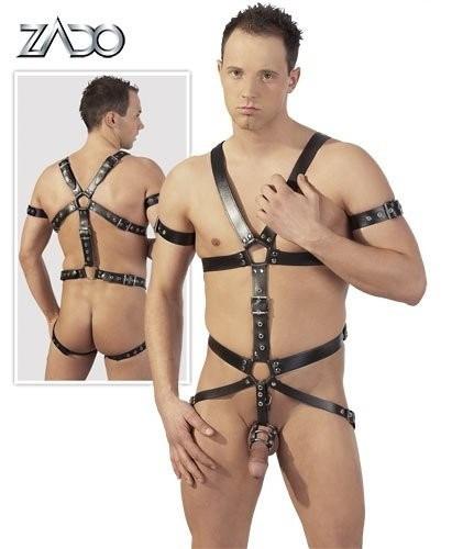 Harness Bondage Body Piele Barbati