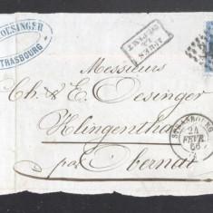 France 1866 Postal History Rare Front Cover 20 C NAPOLEON DB.242