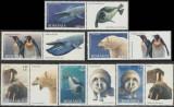 Romania 2007, Fauna polara LP 1791 a, serie cu vignete diferite MNH