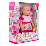 Papusa interactiva Sweet Doll, inaltime 43 cm, 3 ani+, accesorii incluse, General