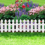 Cumpara ieftin Bordura Gardulet Decorativ Plastic pentru Gazon sau Flori, Dimensiuni 51x30cm, Alb