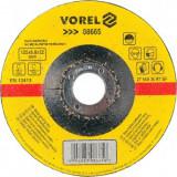 Disc pentru slefuit metal Vorel 08665, diametru 125mm, grosime 6.8 mm