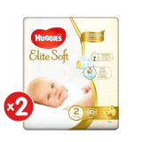 Pachet scutece Huggies Elite Soft, Nr 2, 4-6 kg, 160 buc
