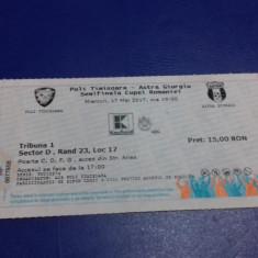 Bilet      Poli  Timisoara   -  Astra  Giurgiu  [semif. Cupa Rom.]