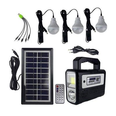Kit solar portabil Gdplus GD-8028COB, USB, 3 becuri, acumulator reincarcabil foto