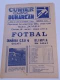 Program meci fotbal DUNAREA CSU GALATI - OLIMPIA RAMNICU SARAT(04.11.1984)