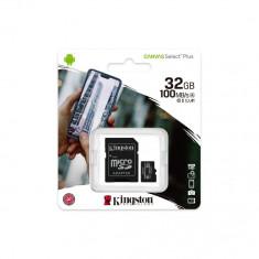 Card de memorie Kingston Canvas Select Plus microSDHC 32GB, Class 10 + Adaptor + Ambalaj Retail