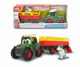 Cumpara ieftin Tractoras Cu Remorca Pentru Animale Cu Figurina Vacuta, Simba