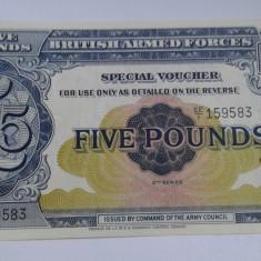 Anglia 5 pounds-Militara