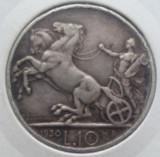 (A29) MONEDA DIN ARGINT ITALIA - 10 LIRE 1930, VITTORIO EMANUELE III, MAI RARA, Europa