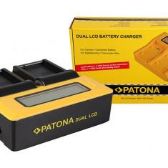 PATONA | Incarcator DUAL LCD pt Nikon ENEL3e EN-EL3e EN-EL3 EN EL3 e