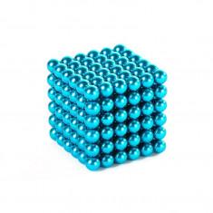 Neocube 216 bile magnetice 5mm, joc puzzle, culoare albastru deschis, peste 14 ani