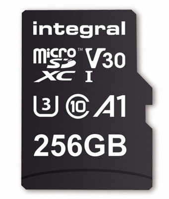 Card de memorie Integral 90V30 256GB Micro SDXC Clasa 10 UHS-I U3 + Adaptor SD foto