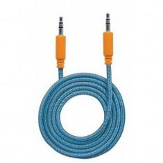 Cablu audio Manhattan MHT394109 Jack 3.5 mm Male - Jack 3.5 mm Male 1.8m Portocaliu / Albastru