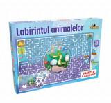 Cumpara ieftin Puzzle Labirintul animalelor, 35 piese, Noriel
